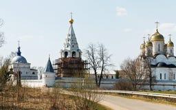 Luzhetsky修道院在Mozhaysk,俄罗斯 免版税库存照片