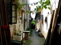 Luzhi ancient town alley. Old narrow luzhi ancient town alley in suzhou city jiangsu province China stock photos