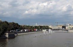 Luzhkov bridge in Moscow. Royalty Free Stock Image