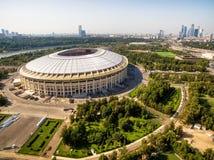 Luzhniki体育场在莫斯科 免版税库存照片
