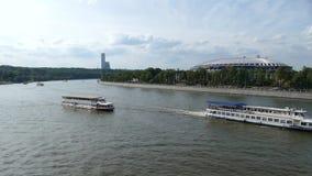 Luzhniki del estadio y río de Moscú almacen de metraje de vídeo