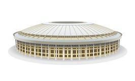 Vector model of Luzhniki Football Stadium in Moscow. Luzhniki Football Stadium in Moscow. Vector illustration isolated on white background Stock Image