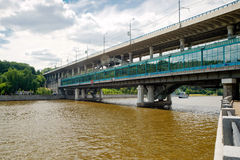 Luzhniki Metro Bridge in Moscow, Russia Stock Photo