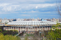 Luzhniki sports arena. Blue sky background. Royalty Free Stock Photos