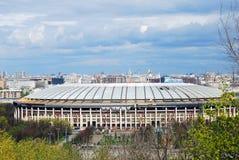 Luzhniki sports arena. Blue sky background. Royalty Free Stock Photos