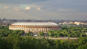 Luzhniki sports complex stock video footage