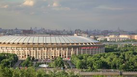 Luzhniki sports complex stock video