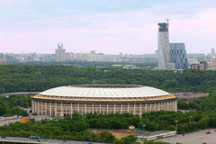 Luzhniki Stadium at dull day Stock Images