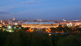 Luzhniki Stadium at evening Royalty Free Stock Photography
