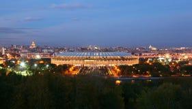Luzhniki Stadium at evening Royalty Free Stock Photography
