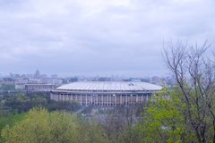 View of Olympic stadium Luzhniki in Moscow, Russia stock image