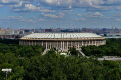 The Luzhniki Stadium in Moscow Stock Images