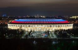 Luzhniki stadium at night stock photos
