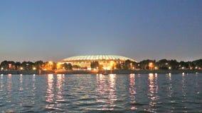 Luzhniki stadium, noc widok, Moskwa, Rosja. zbiory