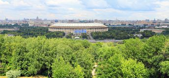 Luzhniki Stadium, panoramic shot. Moscow Royalty Free Stock Images