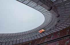 Luzhnikistadion bij nacht Royalty-vrije Stock Fotografie