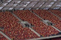 Luzhnikistadion bij nacht Stock Foto's