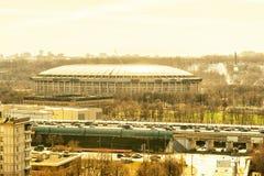 Luzhnikistadion, dat de Wereldbeker van FIFA van 2018, Moskou zal ontvangen Royalty-vrije Stock Foto