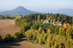 Luzicke Mountains,Czech republic Royalty Free Stock Images