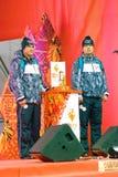 Luzowanie Olimpijski płomień w Moskwa Obraz Royalty Free