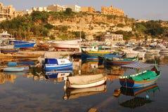 Luzzu bei Gozo Malta Stockfotografie