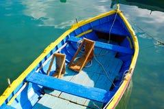 Luzzu famous fishing boats in Marsaxlokk - Malta Stock Photography