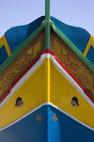 Luzzu Fischerboot in Malta Stockbilder