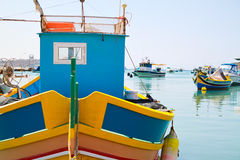 A luzzu in marsaxlokk's harbour Stock Image