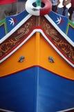 Luzzuen är ett maltesiskt fartyg royaltyfria bilder