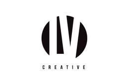 LV L V White Letter Logo Design with Circle Background. Stock Photo