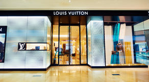 LV Louis Vuitton boutique shop fashion store front Royalty Free Stock Photography