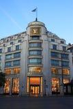 LV Opslag in Champs Elysees Stock Afbeeldingen