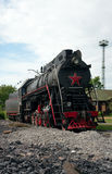LV-0283 steam locomotive, Moscow, Russia Stock Image