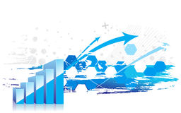 élévation d'apparence du graphique 3d des bénéfices Photo stock