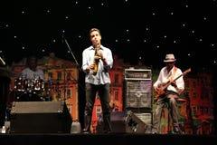 LVIL, UCRÂNIA - 4 de junho: Fusão de Jeff Lorber foto de stock royalty free