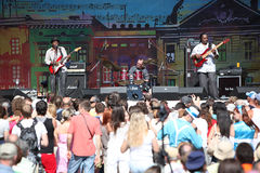 LVIL, UCRÂNIA - 4 de junho: Trio de Vasti Jackson Fotos de Stock