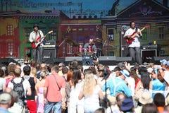 LVIL, UCRANIA - 4 de junio: Trío de Vasti Jackson Fotos de archivo