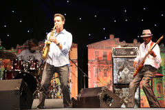 LVIL, UKRAINE - June 4: Jeff Lorber Fusion. In concert during Alfa Jazz Festival on June 4, 2011 in Lviv, Ukraine stock image