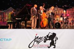 LVIL, UKRAINE - June 3: Wynton Marsalis and Igor Butman Quartet Royalty Free Stock Photo