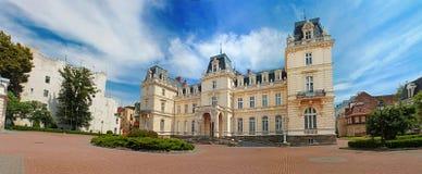 lviv宫殿potocki乌克兰 免版税库存照片