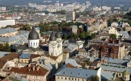 Lviv άποψη από το Δημαρχείο 2 Στοκ Φωτογραφία