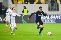 LVIV, ΟΥΚΡΑΝΊΑ - 7 Δεκεμβρίου 2017: Aritz Aduriz κατά τη διάρκεια του UEFA Στοκ Εικόνες