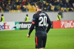 LVIV, ΟΥΚΡΑΝΊΑ - 7 Δεκεμβρίου 2017: Aritz Aduriz κατά τη διάρκεια του UEFA Στοκ Φωτογραφίες