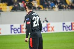 LVIV, ΟΥΚΡΑΝΊΑ - 7 Δεκεμβρίου 2017: Aritz Aduriz κατά τη διάρκεια του UEFA Στοκ Εικόνα