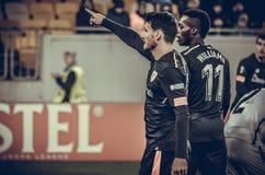 LVIV, ΟΥΚΡΑΝΊΑ - 7 Δεκεμβρίου 2017: Aritz Aduriz κατά τη διάρκεια του UEFA Στοκ Φωτογραφία