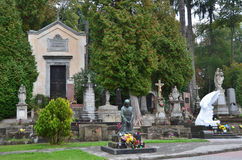 Lviv, Ουκρανία, 16 Σεπτεμβρίου, 2013 Ιστορικό νεκροταφείο Lychakiv σε Lviv Στοκ φωτογραφία με δικαίωμα ελεύθερης χρήσης