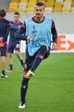 LVIV, ΟΥΚΡΑΝΊΑ - 29 ΣΕΠΤΕΜΒΡΊΟΥ: Artur Jorge στη δράση κατά τη διάρκεια της ΕΕ UEFA Στοκ Εικόνα