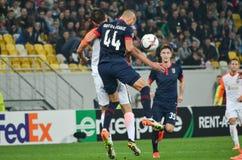 LVIV, ΟΥΚΡΑΝΊΑ - 29 ΣΕΠΤΕΜΒΡΊΟΥ: Artur Jorge στη δράση κατά τη διάρκεια της ΕΕ UEFA Στοκ Φωτογραφίες