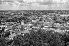 Lviv, της Ουκρανίας παλαιό πανόραμα άποψης πόλεων τοπ Στοκ φωτογραφία με δικαίωμα ελεύθερης χρήσης