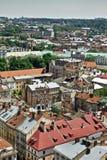 Lviv Aerial View Stock Image